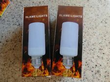 2 PACK E27 Flicker Flame Light Bulb 99 LED Fire Light Effect 3 Modes Xmas Decor
