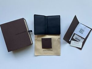 *NEW RARE* Louis Vuitton Pocket Organizer Damier Infini Onyx N63012 w/OG TAGS