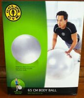 Gold's Gym 65 CM Body Ball - Foot Air Pump Included