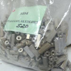 """Qty 25: Abbatron Aluminum 4-40 Female Threaded 5/8"""" Standoff w/ 1/4"""" Hex F2F"""