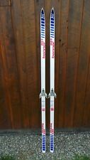 """Vintage Skis 74"""" Long Original RED WHITE and BLUE Finish Great for Decoration"""