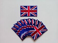 "10 UK United Kingdom Flag Embroidered Patches 3.5""x2.25"" iron-on"