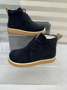 Boys Ecco Crepetray Mini Boots Blue Size 6 EU 23
