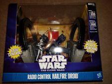 STAR WARS CLONE WARS: RADIO CONTROL HAILFIRE DROID with CLONE TROOPER