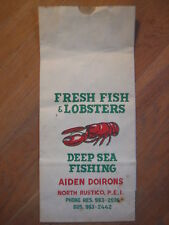 vtg Aiden Doirons North Rustico Prince Edward Island Fish & Lobster Bag ad Pei