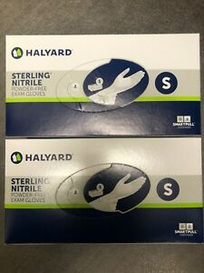 Halyard 50706 Nitrile Exam Gloves Powder-Free Size SMALL (Lot of 2 boxes of 200)