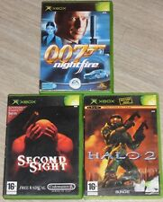Lot 3 Jeux XBOX - Halo 2 - 007 Night fire - Second sight