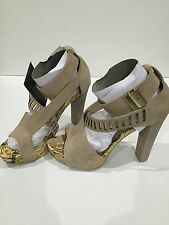 Ladies Heel Shoes Size 8 New Blackmail Cavos New Free Delivery