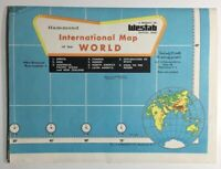 Vintage Hammond International Map of the World 33 x 50 Large Wall Map