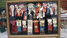 American Freedom Gift Fire Dept Medals Antique Ribbon Badge Plaques