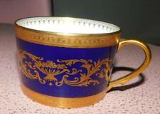Faberge Verneuil Cobalt Coffee Cup Limoges Porcelain China 24K Gold Rim