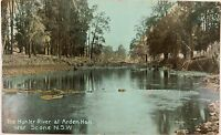 .1912 HUNTER RIVER AT ARDEN HALL NEAR SCONE NSW POSTCARD.