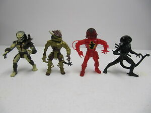 Vintage Kenner Predator 1993 lot of 4 aliens vs Predator action figures