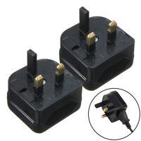 European Euro EU 2-Pin to UK 3-Pin Plug Adapter Power Converter· J7Y4 Tra C8B0