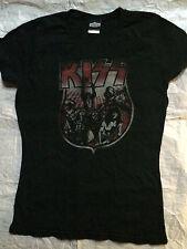 KISS Girlie T-Shirt Winterland Classic Rock Schwarz Black L