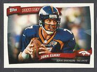 2010 Topps Football - Peak Performers - #PP33 - John Elway - Denver Broncos