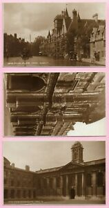 [11599] Oxfordshire Three R/P Postcards Of Oxford Colleges By Judges Ltd