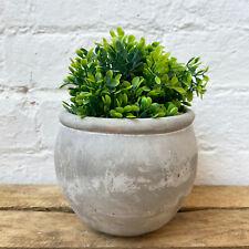 Concrete Cement Home Garden Round Flower Herb Planter Container Bowl Pot 13cm