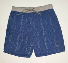 The North Face Blue Board Shorts Swim Trunks Mens Small