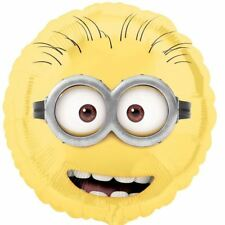 "Minions 18"" Round Foil Helium Balloon - Despicable Me Birthday Party Decorations"