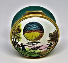 Halcyon Days Enamel Box - First Hot Air Balloon Ascent In America - Philadelphia