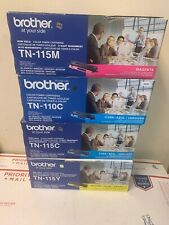 4 Genuine Brother 2X TN115C TN115Y TN115M High-Yield Toner Cartridges .