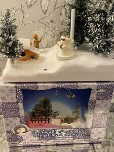 Vintage Rare The Snowman animated flying fibre optic Raymond Briggs Boxed NOS