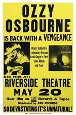 Ozzy Osborne - POSTER - Blizzard of Ozz first gig - Randy Rhoads - Black Sabbath