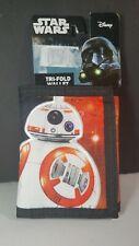 Boys Disney Star Wars Brand Red Multicolor 3D Tri-Fold Wallet Ages 4+