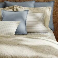 NIP Ralph Lauren Madalena Wetherly 100% Linen Sky Blue Euro Pillow Sham $185