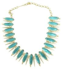 NEW KENDRA SCOTT Gwendolyn London Blue Illusion Statement Collar Necklace