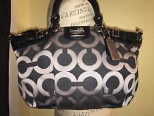 Coach Madison OP Art Sophia Satchel Hand Bag 18608 Black/Gray