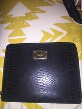 MICHAEL KORS Black Leather PYTHON / SNAKESKIN case
