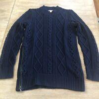 Women's Banana Republic Size Small Mock Neck Knit Sweater Dress Long Sleeve