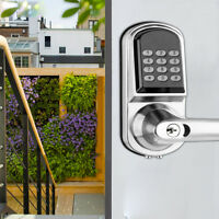Smart Digital Electronic Door Lock Password Keyless Keypad Security Entry Door