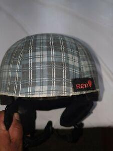 "Red Protection R.E.D ""hi-fi"" Snowboarding Helmet Plaid Pattern Sz S"