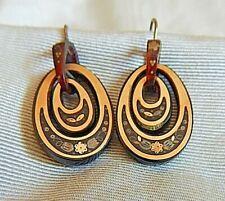 Antique Victorian Pique Loop Earrings