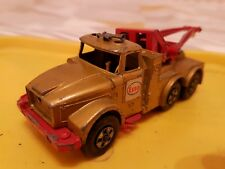 Vintage Scammel Heavy Wreck Truck - ESSO - Matchbox - Super Rings - Gold - Used
