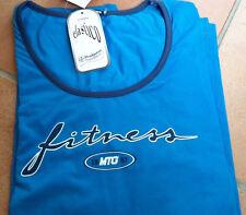 T shirt donna fitness  Meeting in cotone elasticizzato,  tg M e L, color blumare