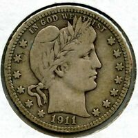 1911 Barber Silver Quarter - Philadelphia Mint - BP246