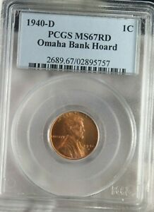 1940-D 1C Penny Lincoln Omaha  Bank Hoard PCGS MS67RD