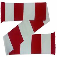 Arsenal Colours Football Gift Retro Bar Scarf Red White