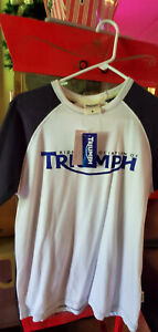 AUTHENTIC RIDERS ASSOCIATION OF TRIUMPH BRITISH MOTORCYCLE LOGO T-SHIRT NEW