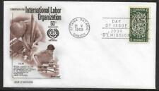 Canada Scott 493 50th Anniversary International Labor Organization Fleetwood Fdc