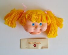 Vintage Zim's Plastic Girl Toy Doll Head Blond Yellow Hair Freckles Cheeks Part
