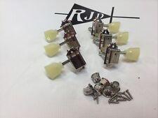Epiphone Deluxe Tuners Tuning Keys Pegs Heads Nickel Tulip Keystone 3 Per Side