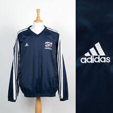 Adidas pour Hommes Bleu Coupe-Vent Veste Légère Haut Coque Stopper Chaud XL