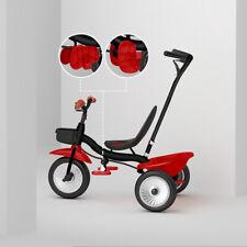 Kinderdreirad mit Schubstange Fahrrad Metallrahmen Pedal-Freilauf ab 15 Monate
