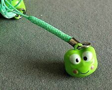 GREEN FROG WILD ANIMAL MOBILE PHONE HANDBAG CHARM KEYRING W BELL WOMEN PARTY