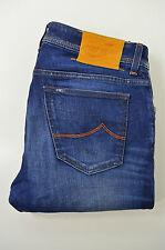 JACOB COHEN Herren Jeans  Mod.PW688 Gerades Bein Blau Baumwolle Handmade Gr.34